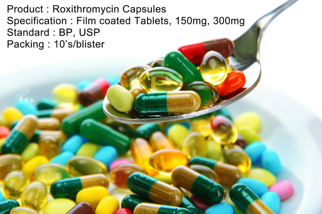Roxithromycin Capsules Film coated Tablets, 150mg, 300mg Oral Medications Antibiotics